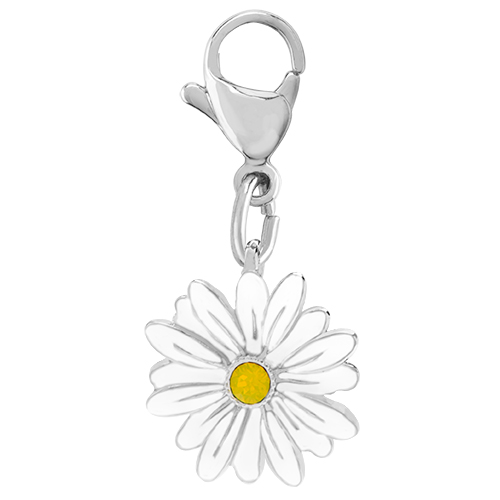 DG4082 Silver Daisy Dangle with Swarovski Crystal